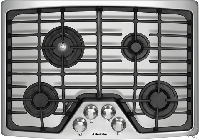 "Electrolux Wave-Touch Series EW30GC55G 30"" Gas Cooktop with 4 Sealed Burners, Min-2-Max Burner, U.S. & Canada EW30GC55G"