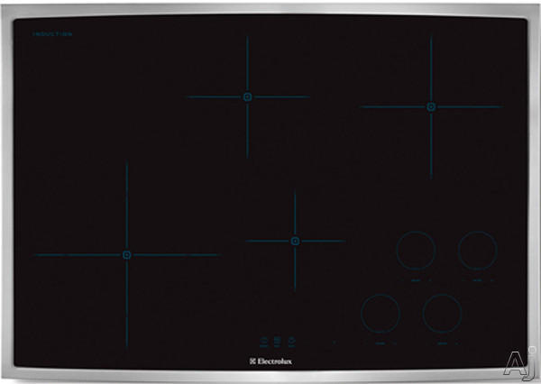 Electrolux EW30IC60LS 30 Inch Induction Cooktop with 4 Cooking Zones, Cookware Compatibility, Keep Warm Setting, Perfect Set Controls and ADA Compliant: Stainless Steel