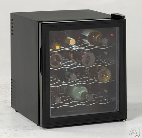 "Avanti EWC1601B 17"" Wine Cooler with 16-Bottle Capacity, Thermoelectric Technology, Adjustable, U.S. & Canada EWC1601B"