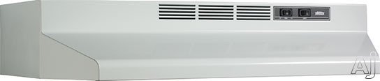 Broan F40000 Series F402401 24 Inch Under-cabinet Range Hood With 190 Cfm Internal Blower, 2-speed Rocker Control, Dishwasher-safe Aluminum Grease Filter And Convertible To Recirculating: White