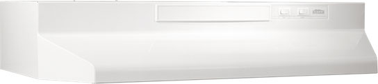 Broan F40000 Series F402411 24 Inch Under-cabinet Range Hood With 190 Cfm Internal Blower, 2-speed Rocker Control, Dishwasher-safe Aluminum Grease Filter And Convertible To Recirculating: Monochromatic White