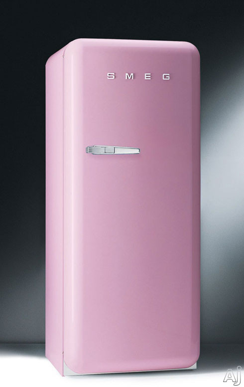 Smeg FAB28URO 9.22 cu. ft. 50's Style Refrigerator with Antibacterial Interior, Ice Compartment and, U.S. & Canada FAB28URO