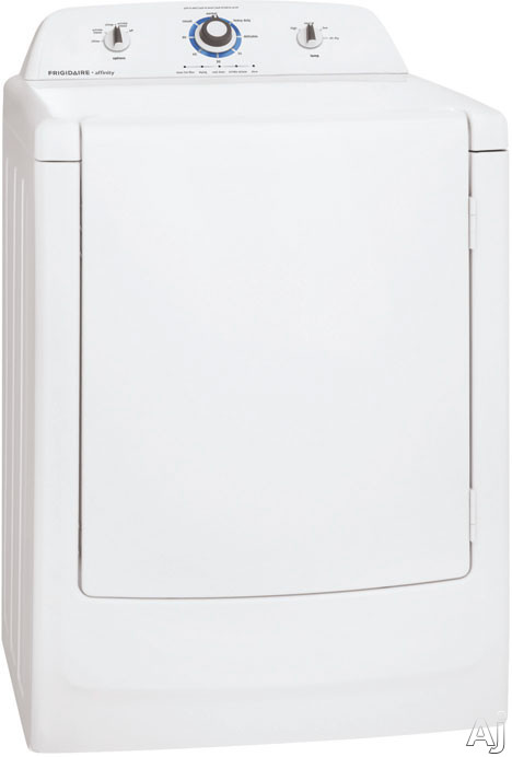Frigidaire Affinity Series FARG1011MW 27 Inch 7.0 cu. ft. Gas Dryer with 8 Dry Cycles, 4 Temperature Selections, One-Touch Wrinkle Release, No Heat Air Fluff, TimeWise Technology and Express-Select Controls