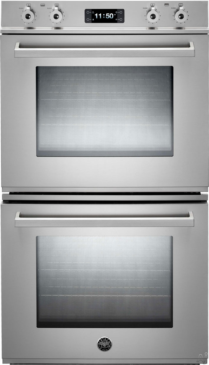 Bertazzoni Professional Series FD30PROXT 30 Inch Double Electric Wall Oven with 4.1 cu. ft. Dual Fan Convection Ovens, Pyrolytic Self Clean, 4 Heating Elements, Star-K Certified Sabbath Mode and Combo Control Interface: New Pro Handle with Auto-Assist