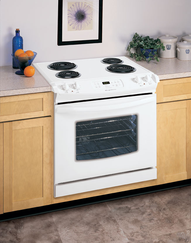 "Frigidaire FED355ES 30"" Drop-in Electric Range With 4 Coil Elements & Dual Radiant Baking System White On White"