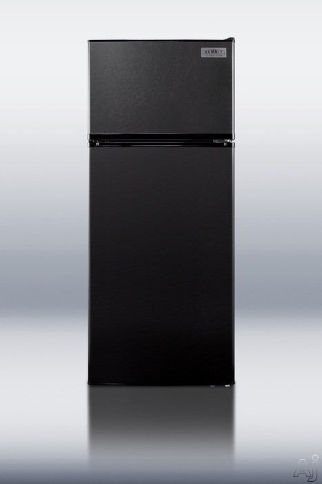 Summit FF1112BL 10.3 cu. ft. Top Freezer Refrigerator with 2 Adjustable Wire Shelves, Door Storage, U.S. & Canada FF1112BL