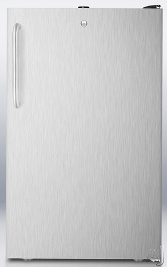 Summit General Purpose Counter Height All-Refrigerator Stainless FF521BLSSTB