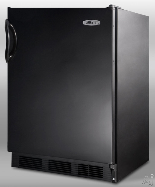 Summit CT66B 5.1 cu. ft. Compact Refrigerator with Adjustable Glass Shelves, Door Storage, Manual Defrost Freezer, Dual Evaporator and Interior Light: Black