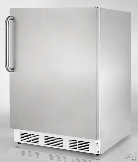 """Summit Commercial Series FF7LCSS 24"""" Built-in Compact Refrigerator with Adjustable Glass Shelves, U.S. & Canada FF7LCSS"""