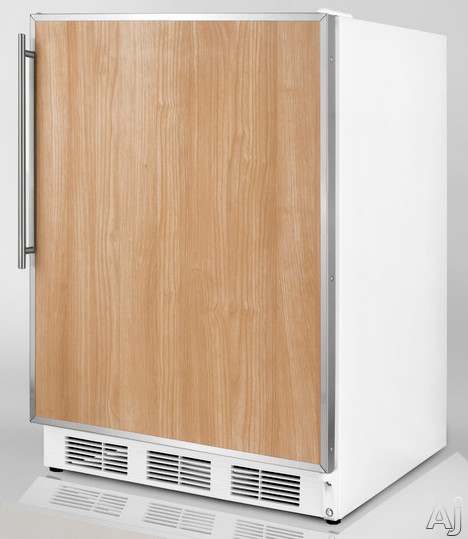 Summit ALFB621CSS 24 Inch Undercounter Freezer with 3 Removable Storage Baskets Manual Defrost  25C Capable and ADA Compliant Stainless Cabinet with Pro Handle