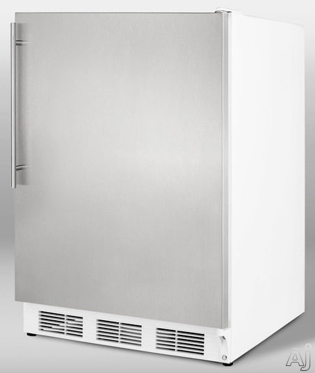 Summit CT66ADASSHV 5.1 cu. ft. Compact Refrigerator with Adjustable Wire Shelves, Door Storage, Manual Defrost Freezer, Dual Evaporator, Interior Ligh