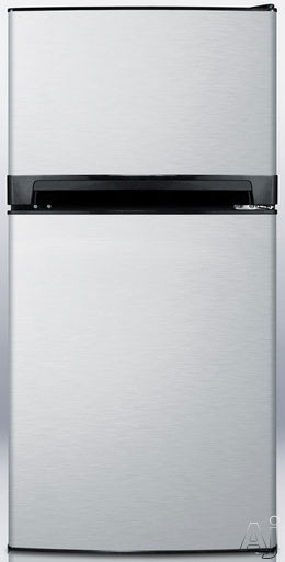 Summit FF874SSIM 8.1 cu. ft. Counter-Depth Top-Freezer Refrigerator with Adjustable Shelves, Door, U.S. & Canada FF874SSIM