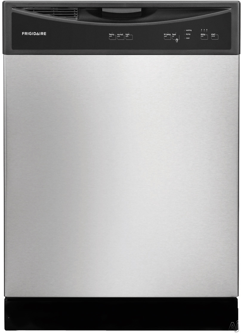 Frigidaire FFBD2406N Full Console Dishwasher with 14 Place Setting Capacity, Heavy Cycle, Hi-Temperatue Wash, 2-6 Hour Delay Start, Self-Cleaning Filter, Electronic Controls and Silence Rating of 60 dBA FFBD2406N