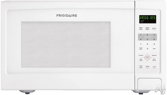 Frigidaire FFCE1638LW 1.6 cu. ft. Countertop Microwave Oven with 1,100 Cooking Watts, 6 Quick Start, U.S. & Canada FFCE1638LW