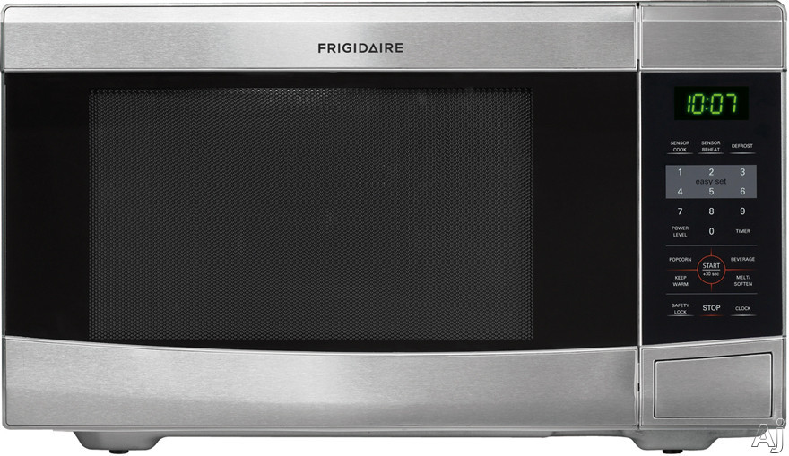 Frigidaire FFCM1134LS 1.1 cu. ft. Countertop Microwave Oven with 1,100 Cooking Watts, 10 Power Levels, 6 Quick Start One-Touch Options, Multi-Stage Cooking Option, Auto-Cook/Reheat Options, Ready-Select Controls and Glass Turntable: Stainless Steel