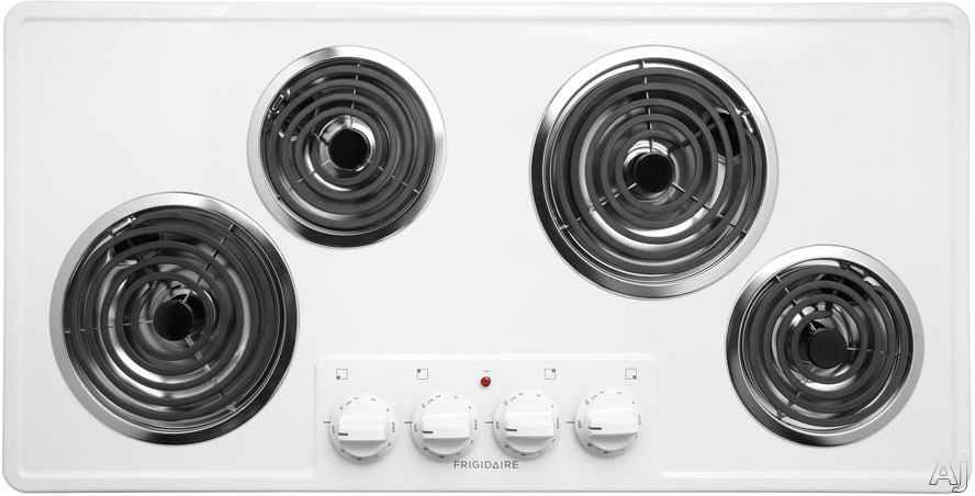 """Frigidaire FFEC3603LW 36"""" Electric Cooktop with 4 Coil Heating Elements, Porcelain Surface and, U.S. & Canada FFEC3603LW"""