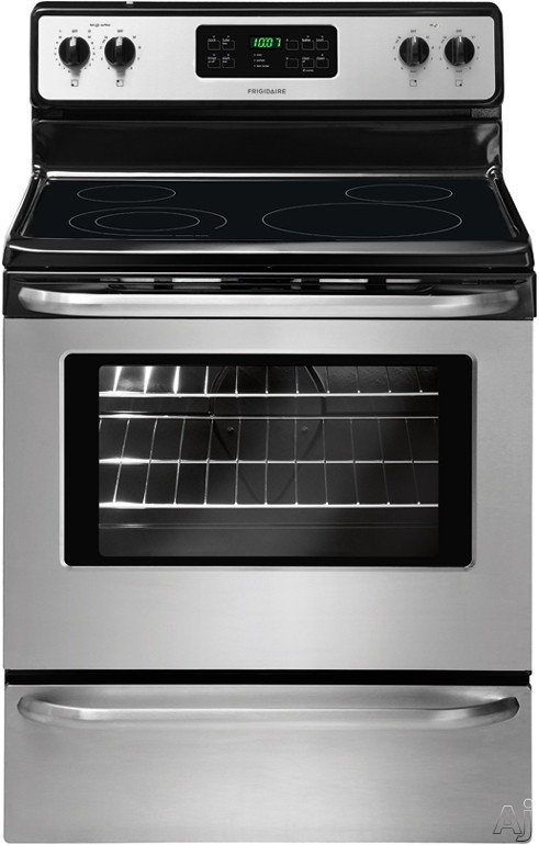 Frigidaire FFEF3048LS 30 Inch Freestanding Electric Range with 4 Smoothtop Elements, 5.3 cu. ft. Oven, 6