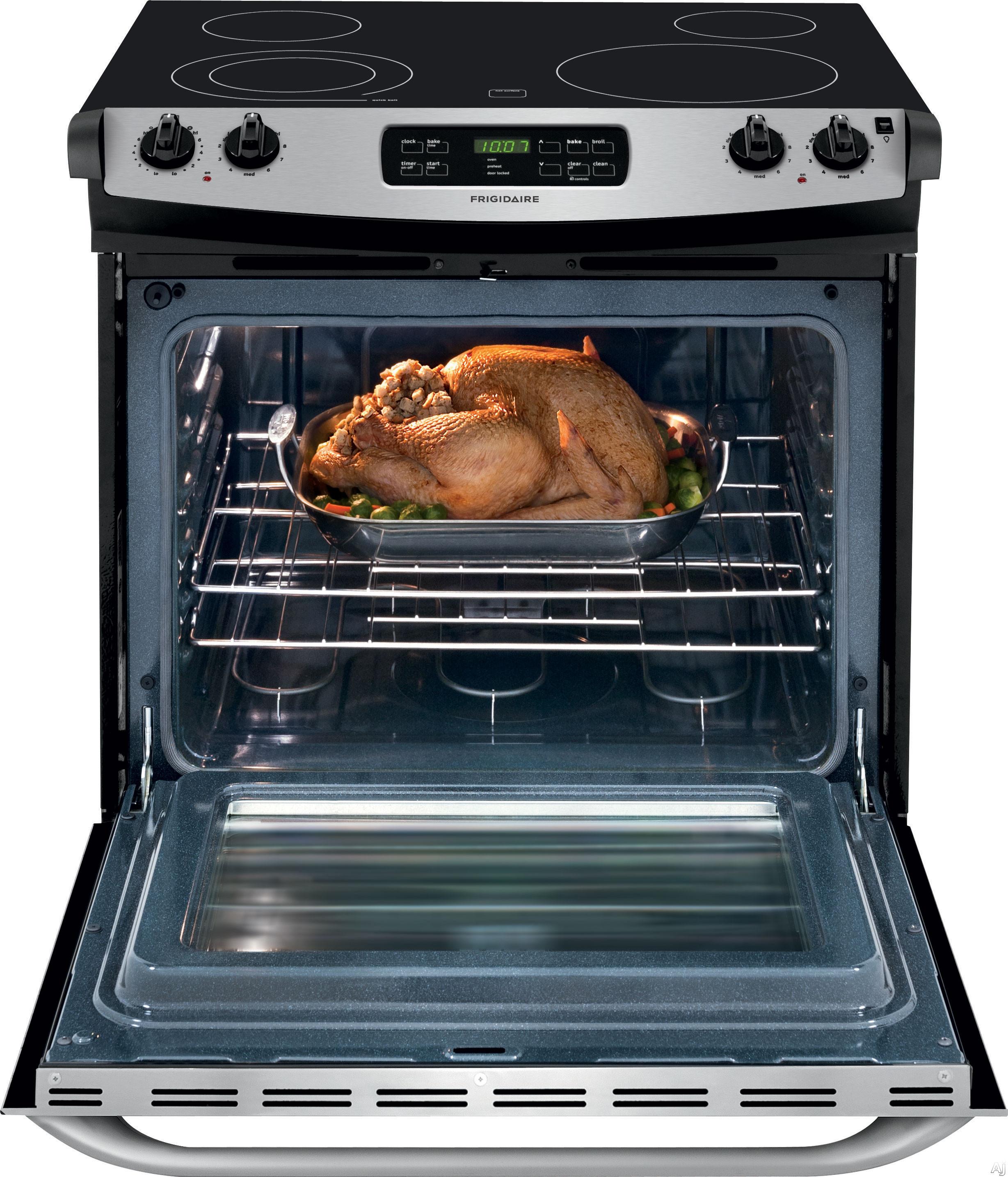 """Frigidaire FFES3025PS 30"""" Slide in Electric Range with 4"""