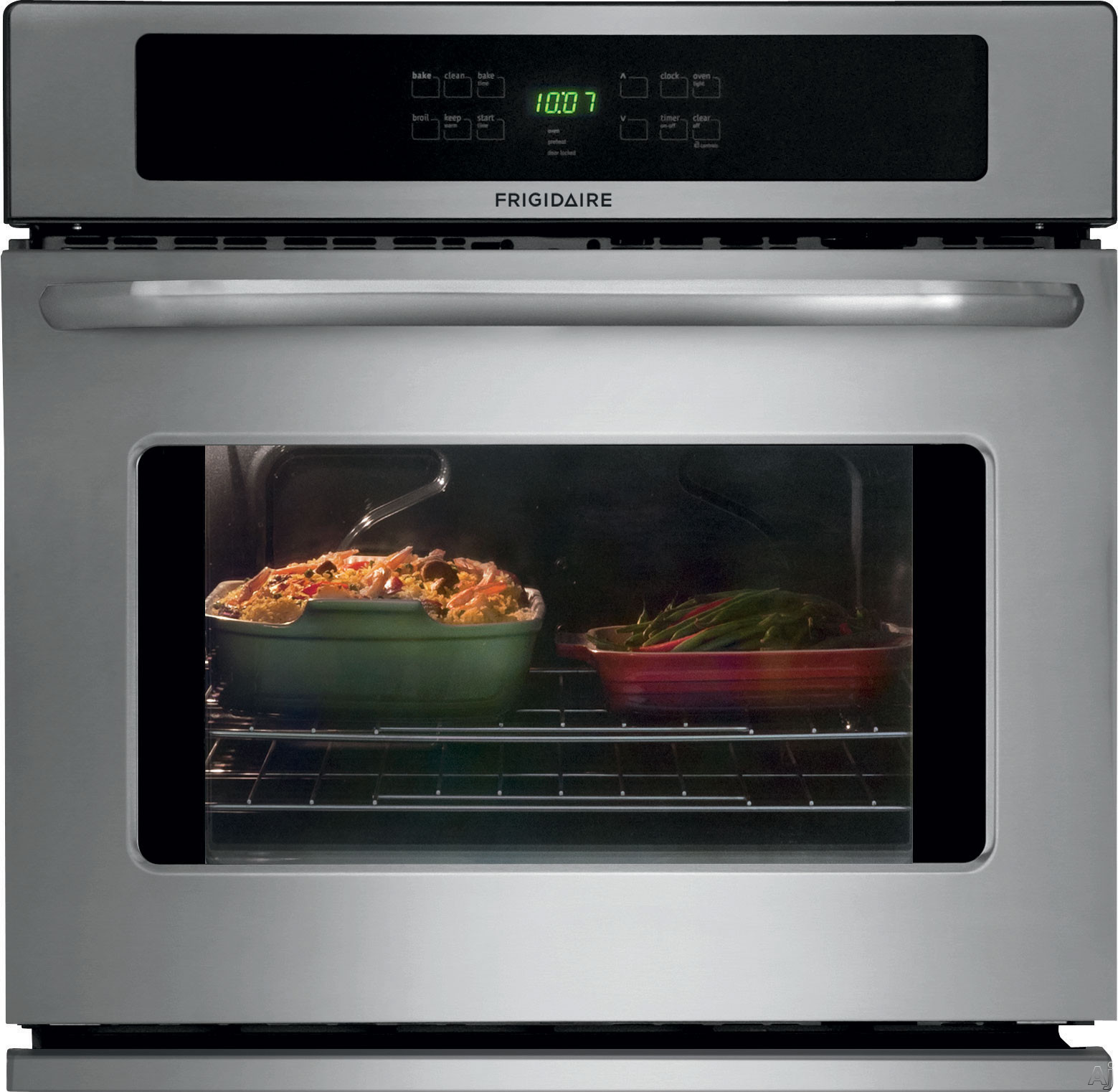 Picture of Frigidaire FFEW3025P 30 Inch Single Electric Wall Oven with 46 cu ft Self-Clean Oven Delay Clean Option Timed Cook Option Keep Warm Setting and Auto Oven Shut-Off