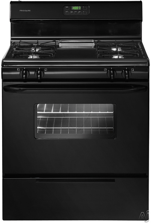 """Frigidaire FFGF3011LB 30"""" Freestanding Gas Range with 4 Open Burners, Square Wire Grates, 4.2 cu. ft. Oven Capacity, Ready-Select Controls and Broiler Drawer: Black"""
