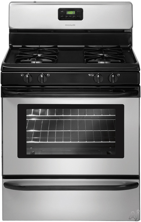 Frigidaire FFGF3015LM 30 Inch Freestanding Gas Range with Low Simmer Burner, Broiler Drawer, Even Baking Technology, Timed Cook, Ready-Select Controls, Clock and Timer, 4 Sealed Burners and 4.2 cu. ft