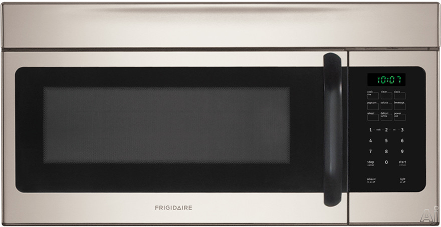 Frigidaire FFMV162LM 1.6 cu. ft. Over-the-Range Microwave with 1,000 Watts, 10 Power Levels, Two Speed 300 CFM Venting System, Ready Select Controls, Fits-More Capacity, Multi-Stage Cooking, Glass Turntable and Convertible to Non-Ducted Operation: SilverM