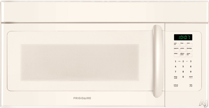 Frigidaire FFMV162LQ 30 Inch Over-the-Range Microwave with Multi-Stage Cooking, Two Speeds, Ready Select Controls, 1.6 cu. ft. Capacity, 1,000 Watts 10 Power Levels, 300 CFM, Fits-More Capacity, Glass Turntable and Convertible to Non-Ducted Operation: Bi