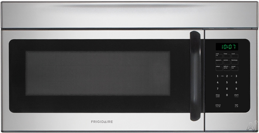 Frigidaire FFMV162LS 30 Inch Over-the-Range Microwave with Multi-Stage Cooking, Two Speeds, Ready Select Controls, 1.6 cu. ft. Capacity, 1,000 Watts 10 Power Levels, 300 CFM, Fits-More Capacity, Glass Turntable and Convertible to Non-Ducted Operation: St