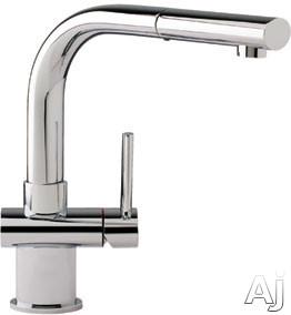Franke Faucet Cartridge : Franke FFP1080 Single Lever Stream Only Pull-Out Faucet: Satin Nickel
