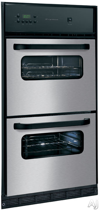 """Electronic Ignition - Frigidaire FGB24T3EC 24"""" Single Gas Wall Oven With Manual Clean Porcelain Oven Electronic Ignition And Full-Size Lower Broiler Stainless Steel"""