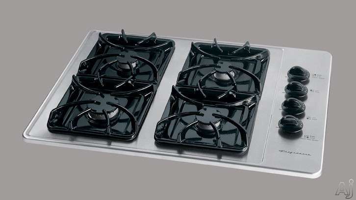 """Electronic Ignition - Frigidaire FGC30S4DC 30"""" Sealed Burner Gas Cooktop With 4 Burners & Electronic Ignition Stainless Steel"""