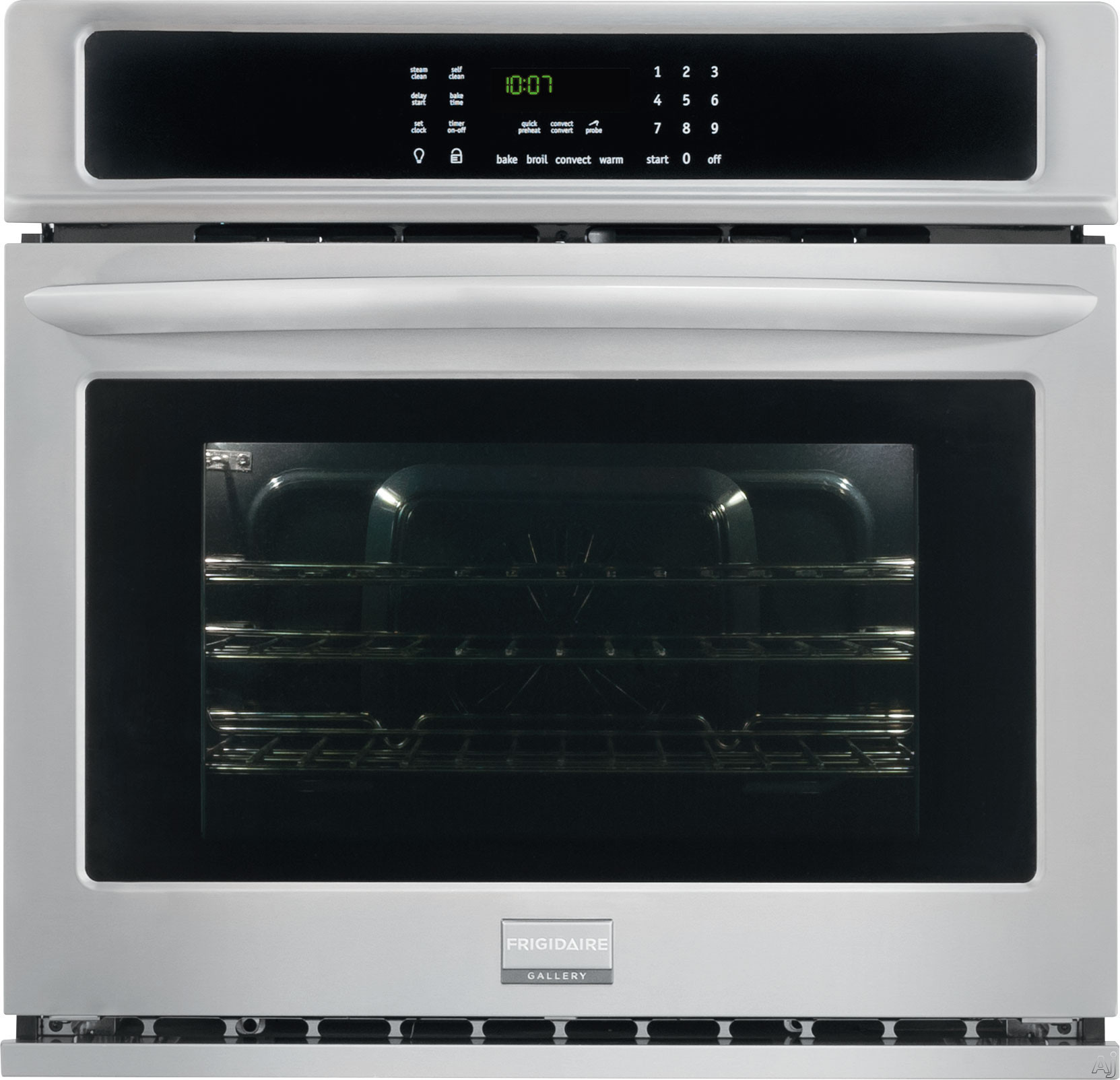 "Frigidaire Gallery Series FGEW3065PF 30 Inch Single Electric Wall Oven with True Convection, Quick Preheat, Effortlessâ""¢ Convection, Delay Start, One-Touch Keep Warm, Auto Shut-Off, Temperature P"