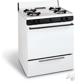 "Frigidaire FGF303CW 30"" Freestanding Gas Range With 4 Open Burners Round Steel Grates 4.1 Cu Ft Manual Clean Oven And Broil & Serve Drawer"