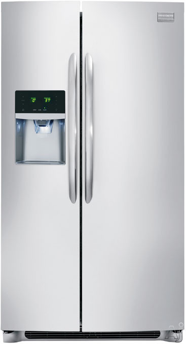 Frigidaire Gallery Series FGHS2631P 36 Inch Side-by-Side Refrigerator with Air and Water Filters, SmudgeProof Finish, Ice and Water Dispenser, SpillSafe Glass Shelves, Gallon Door Storage, ADA Compliant, Star-K Sabbath Mode, ENERGY STAR and 26.0 cu. ft.