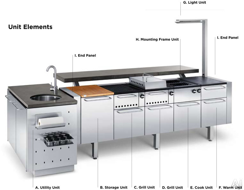 Fuego Fm20mod 6 Unit Modular Outdoor Kitchen With Storage