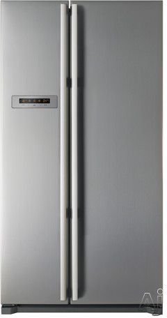 Fagor FQ7925XUS 20.3 cu. ft. Counter-Depth Side by Side Refrigerator with 4 Glass Shelves, 2, U.S. & Canada FQ7925XUS