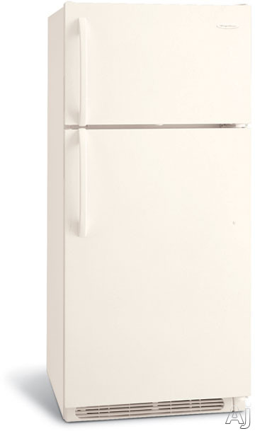 Frigidaire FRT17B3JQ 16.5 Cu Ft Top-Freezer Refrigerator With 2 Sliding Wire Shelves And 2 White Crispers Bisque