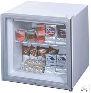 Summit FS20GL7x 1.6 cu. ft. Upright Freezer with Manual Defrost, Front Lock, Glass Door and For Commercial Use