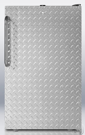 Diamond Plate Wrapped Door with Towel Bar Handle