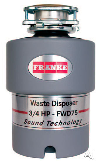 Franke FWD75 3 / 4 HP Continuous Feed Waste Disposer with 2700 RPM Magnet Motor, Jam Resistant and, U.S. & Canada FWD75