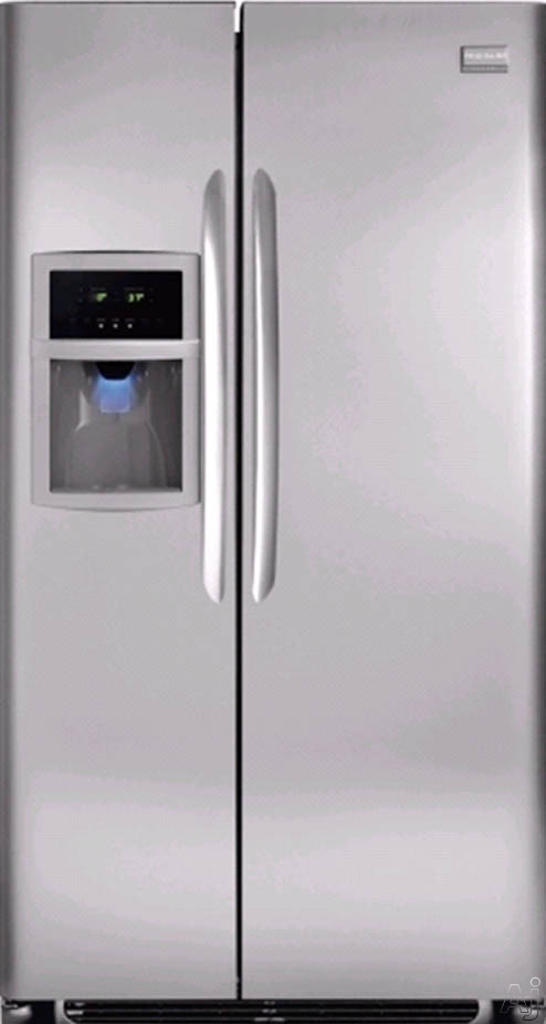 Frigidaire Gallery FGHS2342LF 22.6 cu. ft. Side By Side Refrigerator with 3 Glass SpillSafe Shelves, 2 Humidity Controlled Crispers, Energy Saver Plus Cycle, Ex