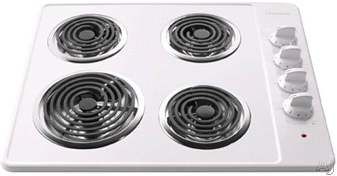 """Frigidaire FFEC2605LW 26"""" Electric Cooktop with 4 Coil Elements, Porcelain Surface and Ready-Select, U.S. & Canada FFEC2605LW"""