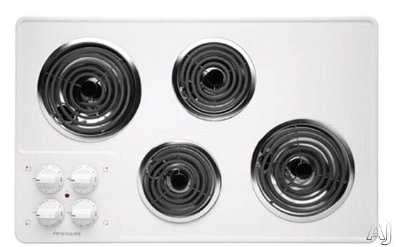 """Frigidaire FFEC3205LW 32"""" Electric Cooktop with 4 Coil Heating Elements, Color-Coordinated Porcelain, U.S. & Canada FFEC3205LW"""