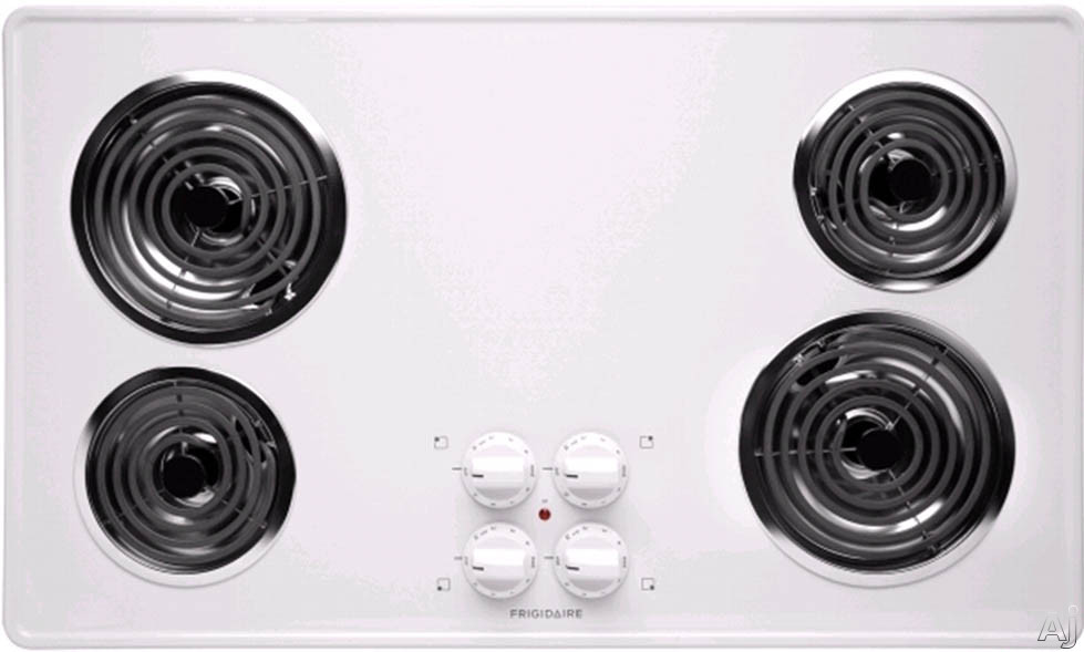 """Frigidaire FFEC3605LW 36"""" Electric Cooktop with 4 Coil Heating Elements, Brushed Chrome Surface and, U.S. & Canada FFEC3605LW"""