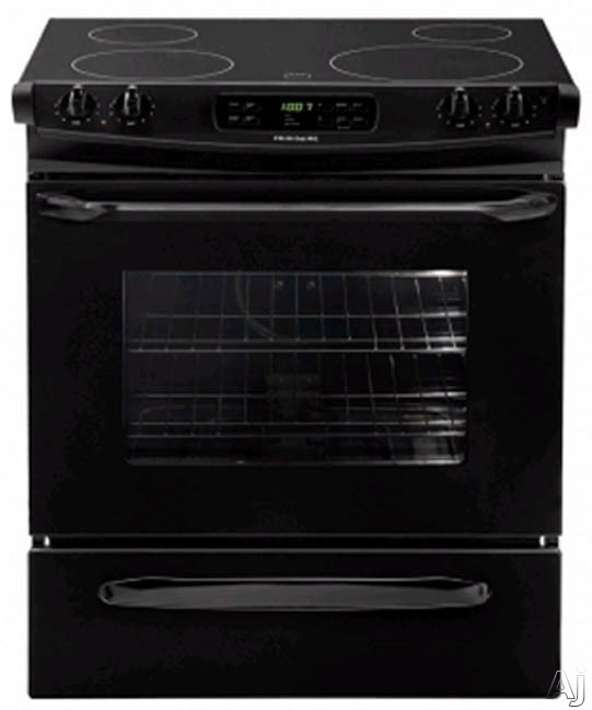 30-in. Slide-In Electric Range-Black