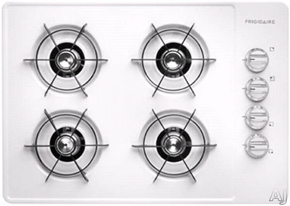 """Frigidaire FFGC3005LW 30"""" Gas Cooktop with 4 Open Burners, Porcelain Surface, Steel Grates and, U.S. & Canada FFGC3005LW"""