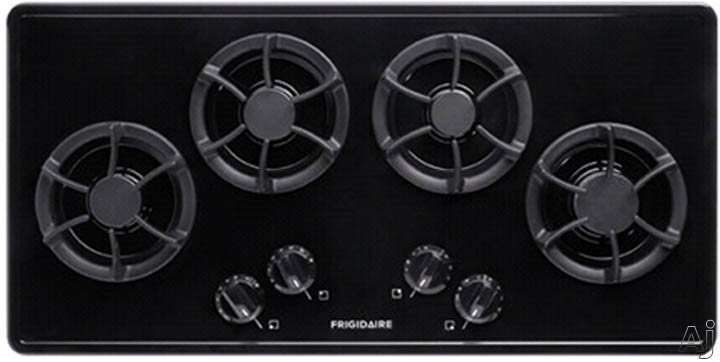 Frigidaire FFGC3613LB 36 Inch Gas Cooktop with 4 Sealed Burners, Cast Iron Grates, Low Simmer Burner and Ready-Select Controls: Black