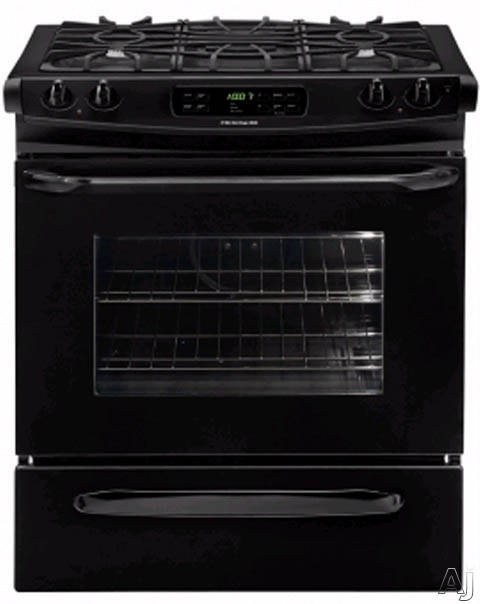 30-in. Slide-In Gas Range-Black
