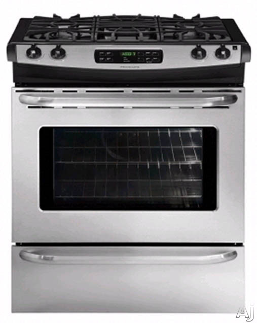 "Frigidaire FFGS3025L 30"" Slide-In Gas Range with 4.2 cu. ft. Capacity, 4 Sealed Burners, Continuous, U.S. & Canada FFGS3025L"
