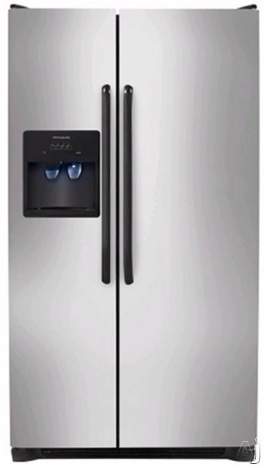 26 cu. ft. Side by Side Refrigerator-Stainless Steel
